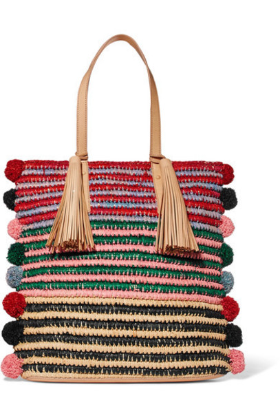 Loeffler Randall embellished leather navy bag