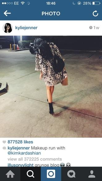 patterned kylie jenner cardigan shoes