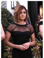 dress,midi dress,black dress,little black dress,aria montgomery,lucy hale,pretty little liars,black,mesh,mesh dress,bodycon,bodycon dress,party,party dress,sexy party dresses,sexy,sexy dress,party outfits,summer,summer dress,summer outfits,spring dress,spring outfits,fall dress,fall outfits,cute,cute dress,girly,girly dress,date outfit,birthday dress,holiday dress,prom,prom dress,black prom dress,short prom dress,romantic,romantic dress,romantic summer dress,celebrity,celebrity style,celebstyle for less