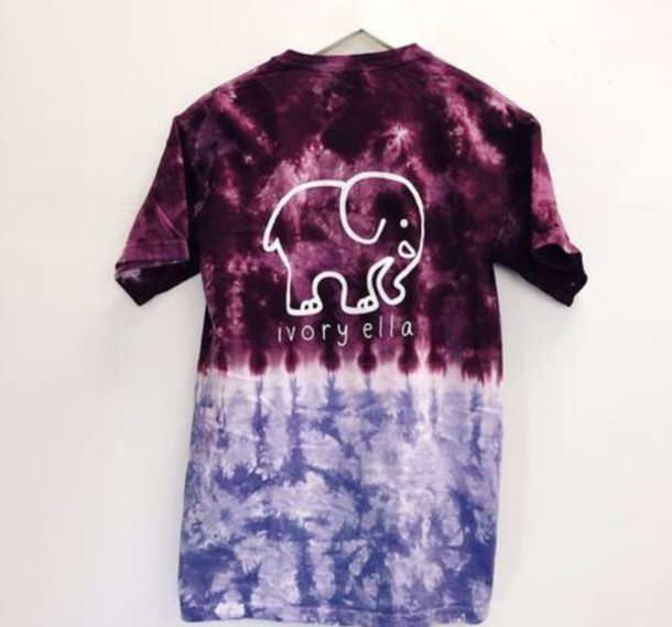 shirt elephant print tie dye