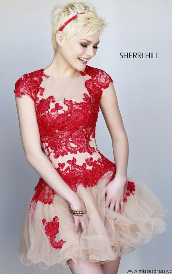 prom dress red dress lace dress