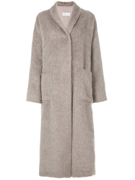 GENTRY PORTOFINO coat women nude cotton wool