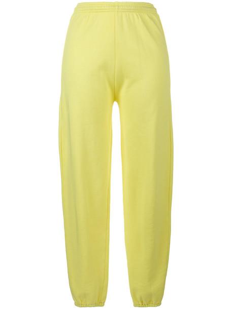 Ashley Williams pants track pants high women cotton yellow orange