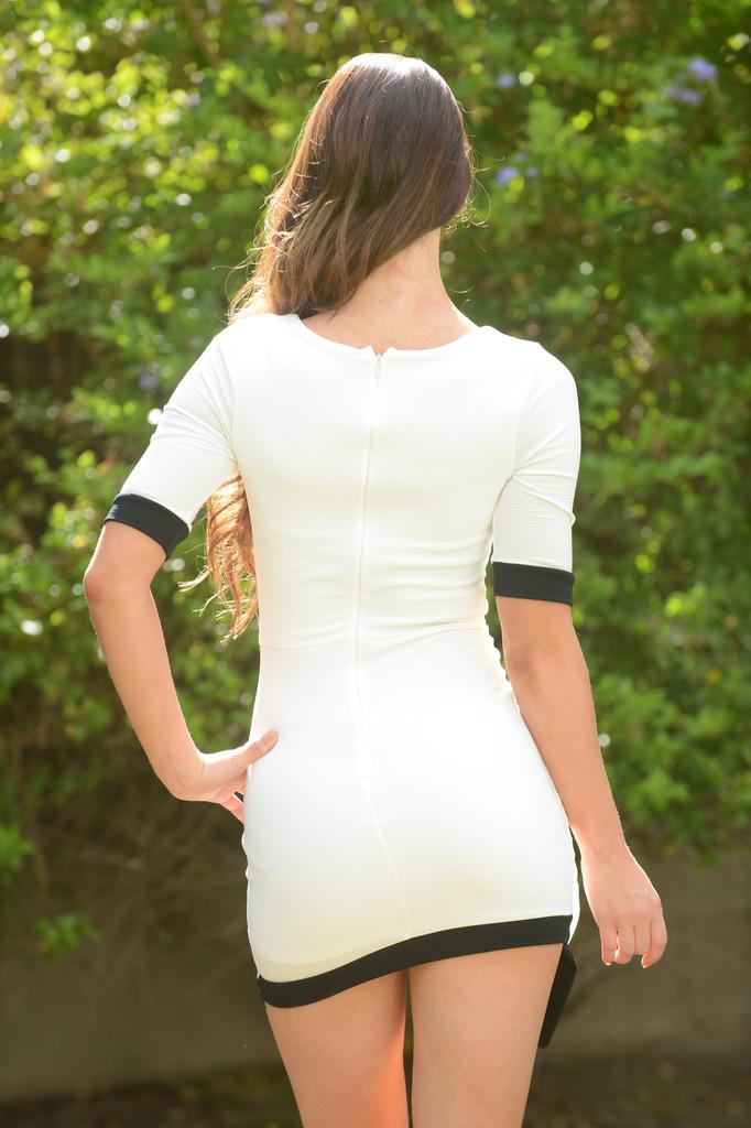 Asymmetrical Lucy Dress - White | Fashion Nova