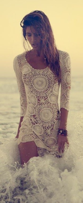 dress white dress white crochet dress
