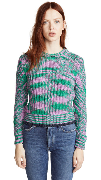 sweater space green lilac