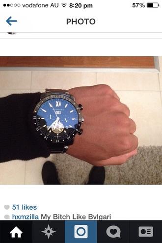jewels watch watches bvlgari black blackandgold black watch