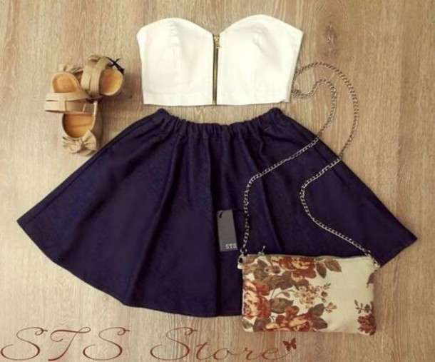 tank top skirt navy