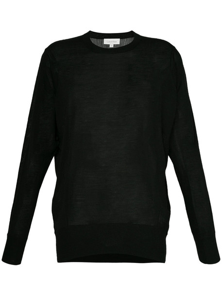 top knitted top women black wool