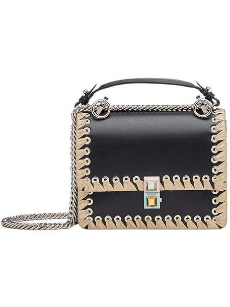 Fendi women abs bag shoulder bag leather black