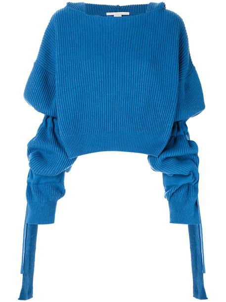 Stella McCartney sweater cropped sweater cropped women blue wool