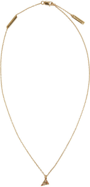 Marc Jacobs pizza necklace gold jewels