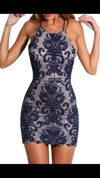 dress blue navy dress