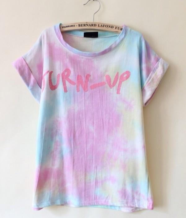Shirt T Shirt Pastel Pastel Grunge Pink Color Pattern