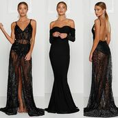 dress,alamour the label,long,black,cristal,sequing,owns,beyonce,prom,formal,wedding,bridesmaide,event