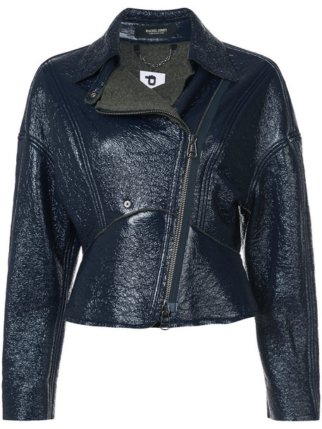 jacket biker jacket women blue wool