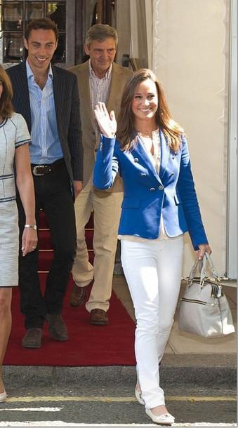 blazer pippa middleton handbag jacket