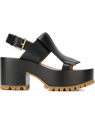 sandals platform sandals black shoes