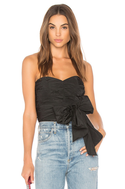 Rebecca Taylor top bow top bow black
