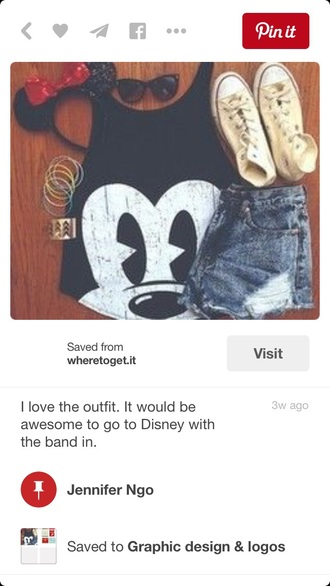 disney cute top mickey mouse