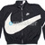 Nike Zip-Up Big Swoosh Jacket Black White