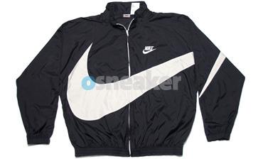 Up big swoosh jacket black white