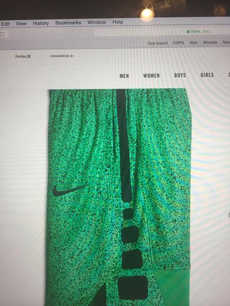 shorts dry elite green nike