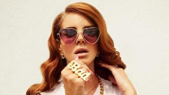 jewels lana del rey bad ring vintage singer sunglasses heart sunglasses ring bad lanadelrey big ring heart