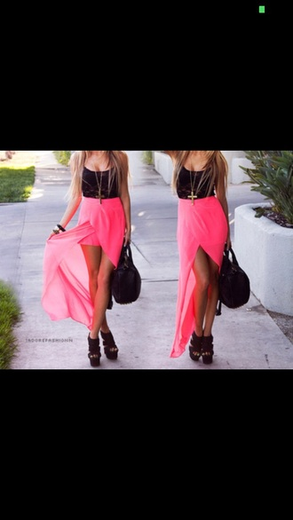 skirt pink long sleeve skirt pink skirt long sleeves