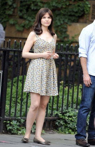 dress ginnifer goodwin floral dress floral
