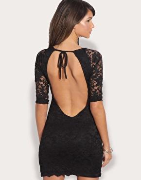ASOS | ASOS Backless Lace Bodycon Dress at ASOS