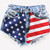 617 Vintage American Flag Shorts | RUNWAYDREAMZ