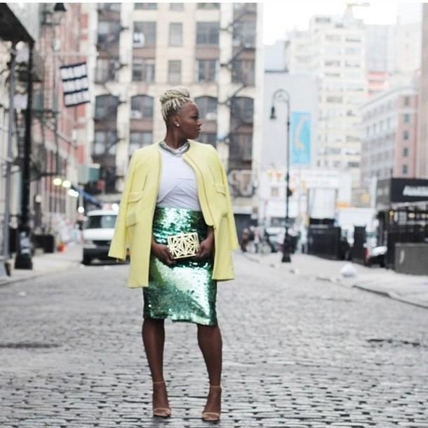 coat yellow collarless pockets lemon jacket summer