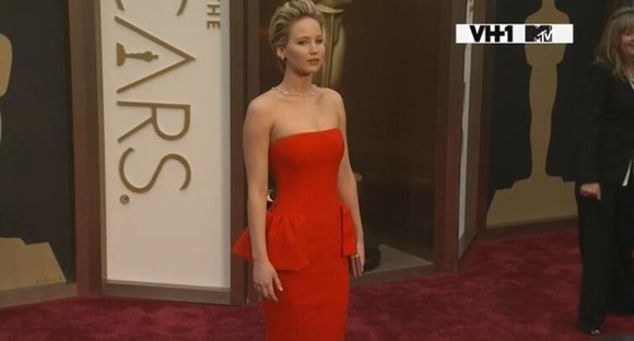 dress jennifer lawrence red carpet red dress 2014 oscars opening ceremony