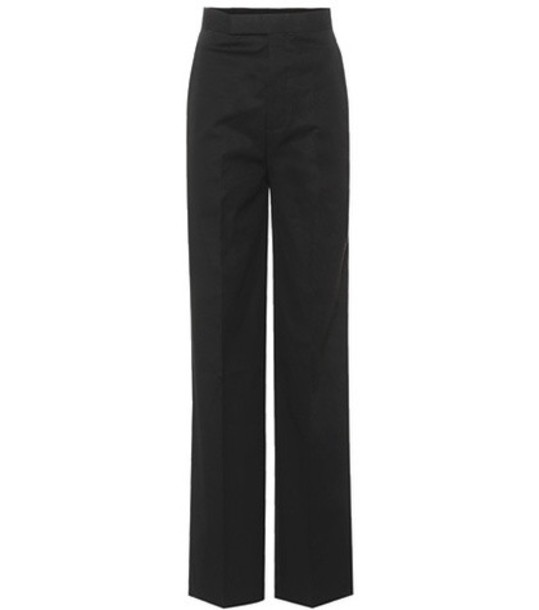 Rick Owens High-waisted cotton trousers in black