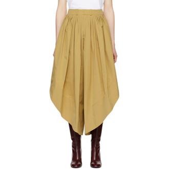 culottes cotton brown pants
