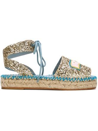 glitter espadrilles metallic shoes