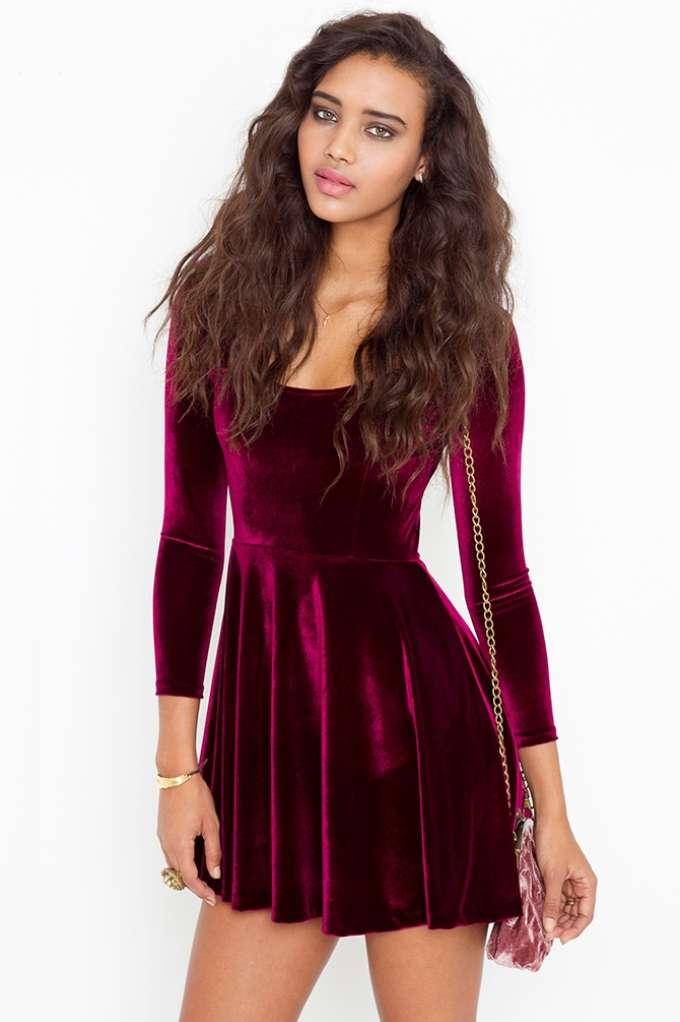 Kerrigan Velvet Dress | Shop Clothes at Nasty Gal