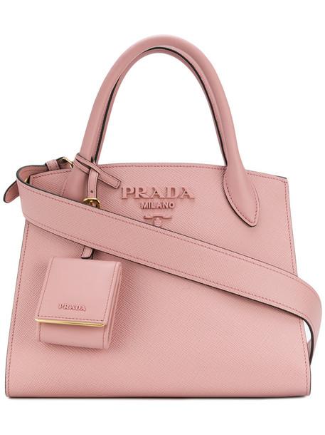 Prada women bag tote bag leather purple pink