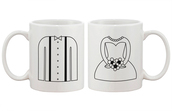 gloves,mr and mrs,coffee,matching couples,wedding gifts,bride and groom,anniversary gift,bridal shower,engagement gifts,custom made,personalized gifts,his and hers gifts,morning mug,mug,couple mugs