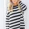 Call it destiny black striped knit sweater
