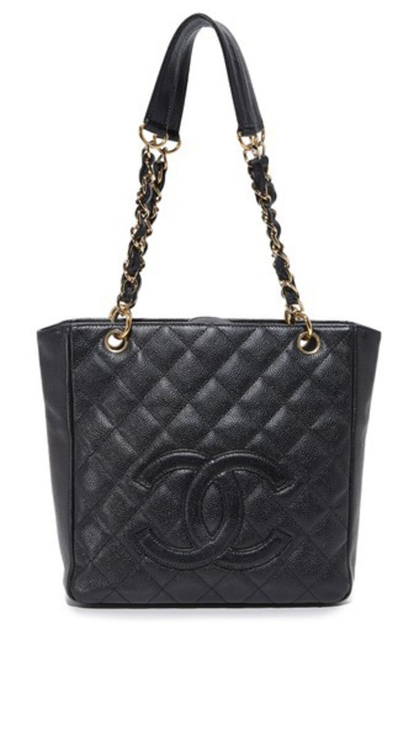What Goes Around Comes Around Chanel PST Tote (Previously Owned) in black