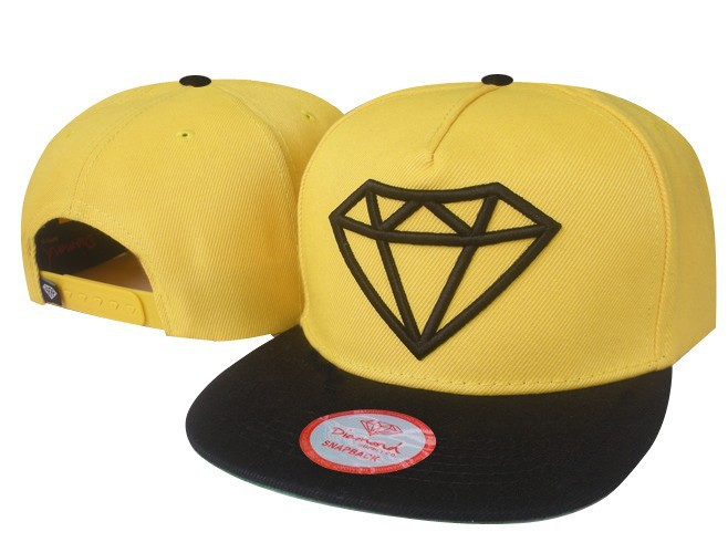 Freeshipping Diamond hot Snapback Hats yellow  / black fashion mens classic adjustable snapbacks caps without MOQ !-in Baseball Caps from Apparel & Accessories on Aliexpress.com