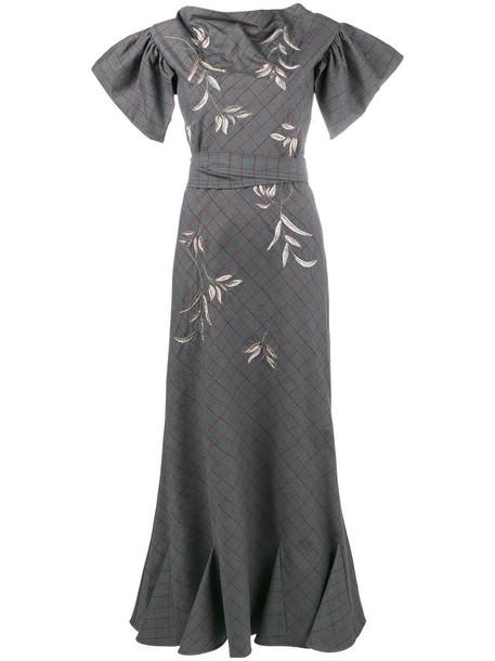 Attico dress women spandex cotton grey