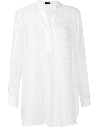 blouse sheer blouse sheer white top