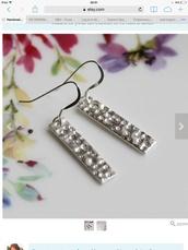jewels,sterling silver,silver,earrings,earings,ear piercings,drop earrings,dainty jewelry,pretty,simple earrings