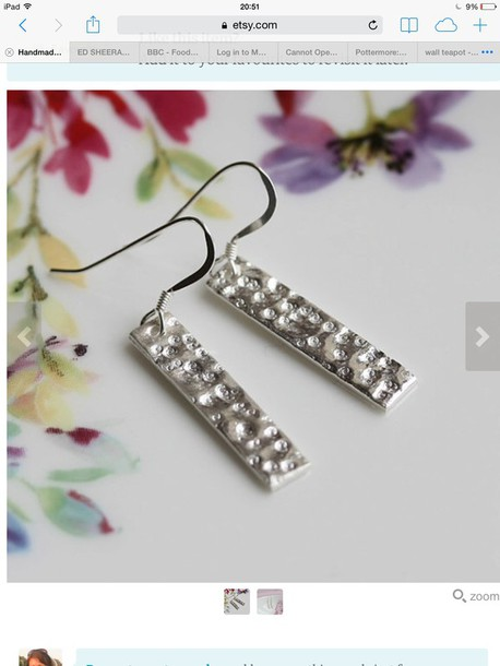 jewels sterling silver silver earrings earings ear piercings drop earrings dainty jewelry pretty simple earrings