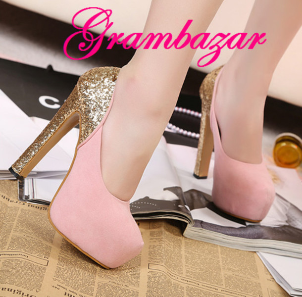 b1565cf0c0c2 shoes high heels high heels pink shoes pink cute shoes Sparkle shoes bright shoes  prom shoes