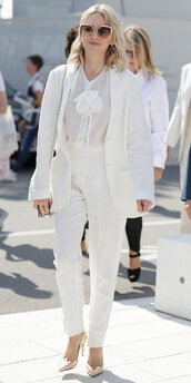 shoes,all white everything,pants,suit,blazer,naomi watts