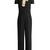 Tie-neck wide-leg cady jumpsuit